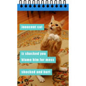 Innocent Cat Lolcats Notepad