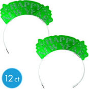 Green Happy New Year Glitter Tiaras 12ct <span class=messagesale><br><b>42¢ per piece!</b></br></span>