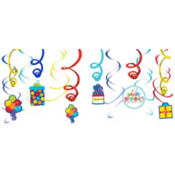 Birthday Fever Swirl Decoration