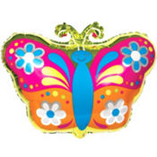 Foil Spring Butterfly Balloon 18in
