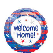 Foil Welcome Home Patriotic Balloon 18in