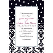 Damask & Polka Dot Custom Invitation