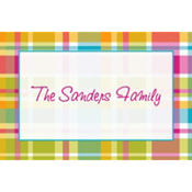 Summer Plaid Custom Thank You Note