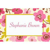 Linen Floral Custom Thank You Note
