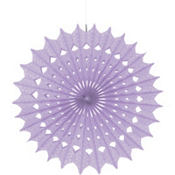 Lilac Paper Fan Decoration 16in