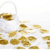 Gold & White Rose Petals 300ct