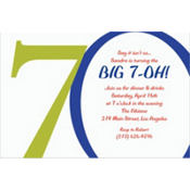 Great Big 70th Custom Invitation