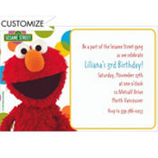 Sesame Street Custom Invitation