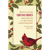 Holiday Tidings Custom Invitation