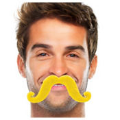 Yellow Handlebar Moustache