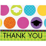 Colorful Commencement Graduation Thank You Notes 50ct