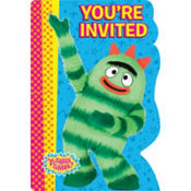 Yo Gabba Gabba Invitations 8ct