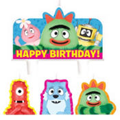 Yo Gabba Gabba Birthday Candles 4ct