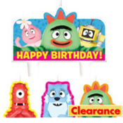 Yo Gabba Gabba! Birthday Candles 4ct