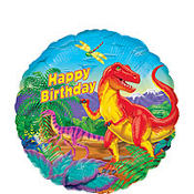 Happy Birthday Balloon - Prehistoric Dinosaurs