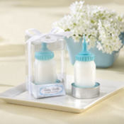 Blue Baby Bottle Candle Baby Shower Favor