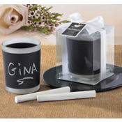 Chalkboard Tea Light Holder Favor
