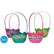 Shaped Bamboo Easter Baskets 24ct