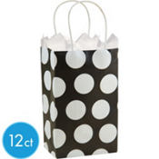 Black Polka Dot Mini Gift Bags 12ct