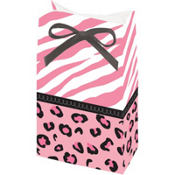 Pink Safari Baby Shower Favor Bags 12ct