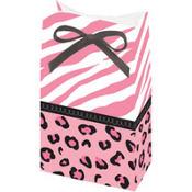 Pink Safari Baby Shower Favor Bags 12ct