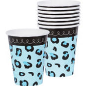 Blue Safari Baby Shower Cups 18ct