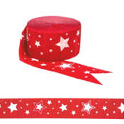 Red Star Crepe Streamer 81ft