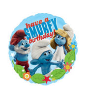 Foil Smurfy Birthday Balloon 18in