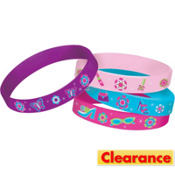 Glitzy Girl Wristbands 4ct