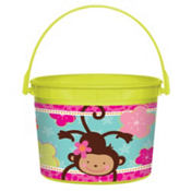 Monkey Love Favor Container 4in