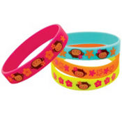 Monkey Love Wristbands 4ct