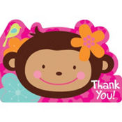 Monkey Love Thank You Notes 8ct