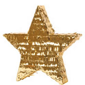 Gold Foil Star Pinata 18in