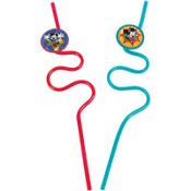 Mickey Mouse Krazy Straws 2ct