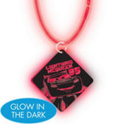 Cars Necklace with Glow Pendant