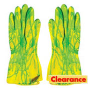 Biohazard Green Ooze Rubber Gloves
