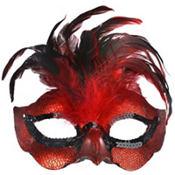 Fire Bird Feather Mask