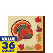Thanksgiving Holiday Beverage Napkins 36ct