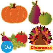 Glitter Thanksgiving Harvest Cutouts 10ct