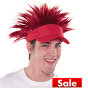 Red Spikey Hair Visor