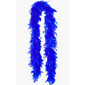 Blue Feather Boa 72in