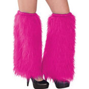 Pink Furry Leg Warmers