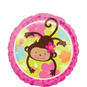 Foil Monkey Love Balloon 18in