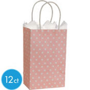 Light Pink Dot Mini Gift Bag 12ct