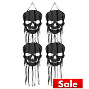 Hanging Skull Cutout Decorations 26in 4ct