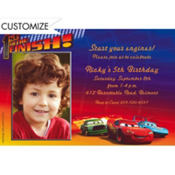 1st to the Finish Custom Photo Invitation