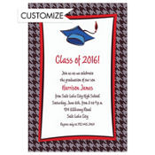 Handsome Grad Guy Custom Graduation Invitation