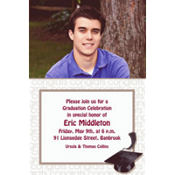 White Congrats Grad Custom Photo Invitation