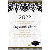 Black & White Custom Graduation Announcement