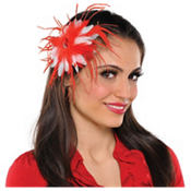 Peppermint Feather Hair Clip